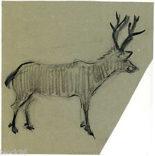 REINDEER page with drawing from the album of Russian artist A.M.Gromov