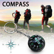 Ball Keychain Liquid Filled Compass For Travel Hiking Camping Outdoor Survival