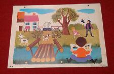 Affiche scolaire bel état ! Fernand Nathan 1965 A3 Le petit pont