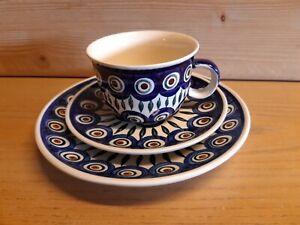 Bunzlauer Keramik Dekor  - Kaffee Gedeck 3 - teilig - Muster 8 Zustand NEU