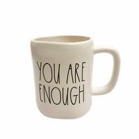 Rae Dunn YOU ARE ENOUGH Coffee Mug Fall 2020 NEW!!