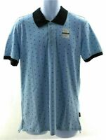 Lee Polo Shirt Mens Light Blue Short Sleeve