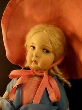 """ALL ORIGINAL 1930 LENCI 22"""" GORGEOUS LARGE FELT DOLL ITALY OUTSTANDING CONDITION"""
