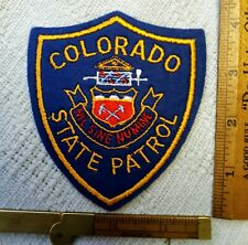 COLORADO STATE PATROL FELT PATCH OLD CHEESE CLOTH RARE EXCELENT CONDITION NR!