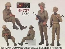 HOBBY FAN - 1/35 IDF TANK Commander & Female Soldier (2 Figures) - HF727
