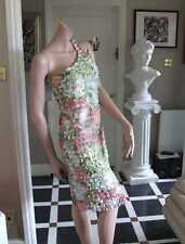 Joseph Ribkoff BNWT 10 Gorgeous One Shoulder Pastel Ruffle Bandage Style Dress