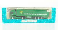 "ALBEDO 1:87 Renault Koffer-Sattelzug Fahrschule ""BP Pirelli"", OVP"