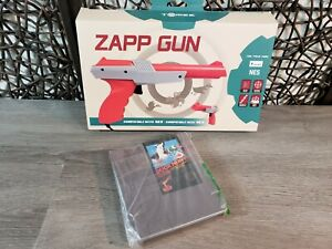 NEW TOMEE ZAPP GUN M04057  FOR NINTENDO NES CONSOLE + USED DUCK HUNT VIDEO GAME