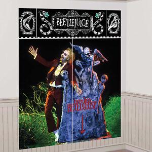 Halloween Beetlejuice Scene Setter Wall Decoration Makes a Scene 165 x 190cm