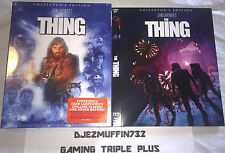 THE THING BLU-RAY DELUXE LIMITED EDITION (INCL 2 SLIP COVERS + FOLDED POSTERS)