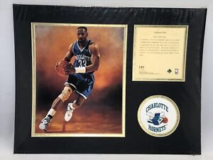Alonzo Mourning Charlotte Hornets '95 Matted Kelly Russell Lithograph Print #182