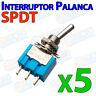5x Mini Interruptor palanca SPDT ON/OFF 6A 2 posiciones 5mm switch conmutador