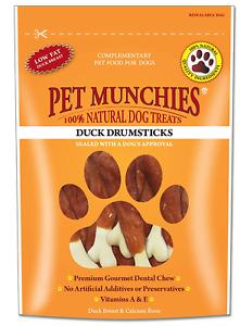 Pet Munchies Duck Drumstick Natural Dog Treats 8 Packs of 100g