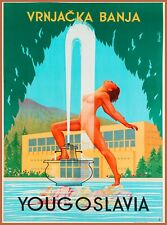 Yugoslavia Croatia Vintage Travel Wall Decor Advertisement Art Poster Print