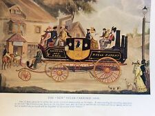 m17a1 ephemera 1920s book plate the new steam carriage 1828