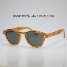 Vintage polarized sunglasses 1960's artists eyeglasses mens G15 green lens 49mm
