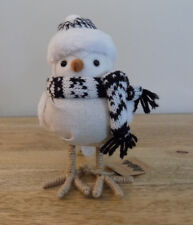 Owl Decor Winter Bird White Country Rustic Home Feathery Friend New Gift
