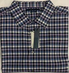 Perry Ellis Long Sleeve Shirt Coastal Fjord Plaid Size 2XLT Big & Tall $19.99