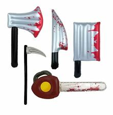 Halloween Handheld Inflatable Props Bloody Horror Knife Chainsaw Axe