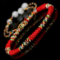 Lucky weaved Bracelets Handmade Buddhist Knots Rope Bracelets Tibetan Jewelry!