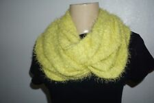 NWT HOLLISTER WOMENS NEON LIME GREEN FUZZY ONE SIZE SCARF