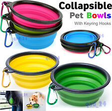 Collapsible Pet Bowl Small Raised Dog Cat Travel Food Feeding Non Slip Portable