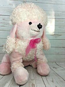 Dan Dee Jumbo Pink Poodle Dog Puppy Plush Stuffed Animal Toy 24in Huge Large