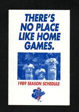 Joe Carter & John Farrell--1989 Cleveland Indians Pocket  Schedule--John O's