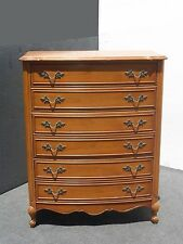 DIXIE FRENCH PROVINCIAL High Boy DRESSER with Brass Hardware