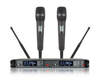 UHF Stage Microphone Handheld Diversity Long Range Wireless Microphone System