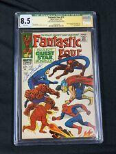 Fantastic Four 73 cgc SS Q 8.5 Signed Joe Sinnot CLASSIC COVER Spider-man Thor