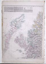 1864 LARGE ANTIQUE MAP ~ SCOTLAND NORTH WEST SHEET ISLE OF SKYE INVERNESS