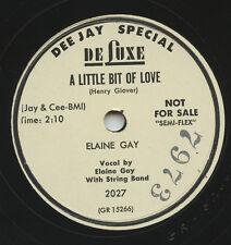 HEAR - Rare Country Bopper 78 - Elaine Gay - A Little Bit Of Love - De Luxe 2027