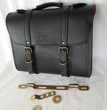 ROYAL ENFIELD VINTAGE CUIR NOIR SACOCHE KIT D'INSTALLATION PORTE BAGAGE