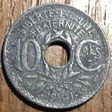 PIECE DE 10 CENTIMES LINDAUER 1941 EN ZINC (400)