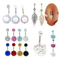 Surgical Steel Leaf Belly Button Ring Navel Belly Piercing Nombril Body Jewelry