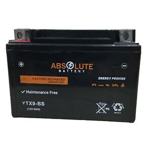 YTX9-BS AGM ATV Battery ETON Yukon Viper 150 Kymco MXU150 Polaris Outlaw 125 NEW