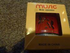Musique-Mini haut-parleur-Rouge-Chargeur - NEUF-Coffret