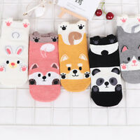Lovely Cartoon Animal Pattern Cotton Boat Socks Short Sock Low Cut Ankle Sock