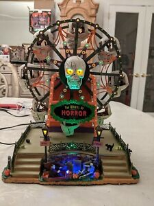 LEMAX SpookyTown Wheel Of Horror, Excellent Condition, Everything Works.