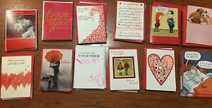 Lot of 12 Valentine's Day Greeting Cards RSVP & Recycled Paper Greetings