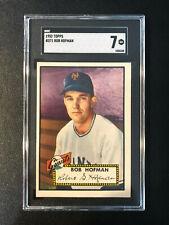 1952 Topps #371 Bob Hofmanl Giants SGC 7 High Number PSA Set Break