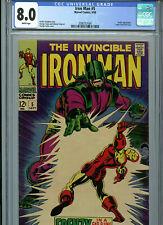 Iron Man #5 CGC 8.0  Marvel Comics 1968 Amricons S3