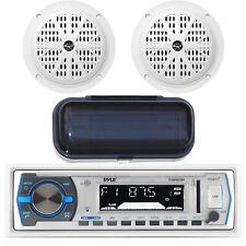 Pyle Marine In-Dash AM/FM Radio MP3 USB SD AUX iPod Input, 4