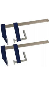 Neilsen 2pc F Clamps Wood Working 300mm Heavy Duty Cast Iron Metal Deep clamp