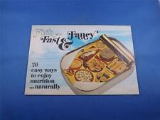 FISH FAST & FANCY RECIPE BOOKLET CONNOR BROS NEW BRUNSWICK CANADA10 CENT COUPON