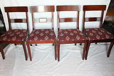 Great Set of Eight English Regency Mahogany Dining Chairs, 2 Arm & 6 Side Chairs