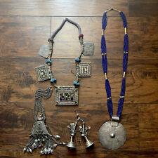Antique Yemen Afghan Moroccan Ottoman Silver Kuchi Quran Box Necklace Jewelry