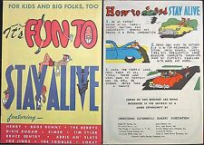 IT'S FUN TO STAY ALIVE RARE GIVEAWAY PROMO NATIONAL AUTO DEALER 1948 COMIC VFNM