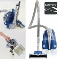Kenmore 10701 Bagless Compact Canister Vacuum W/ Turbine Brush - Silver/Blue